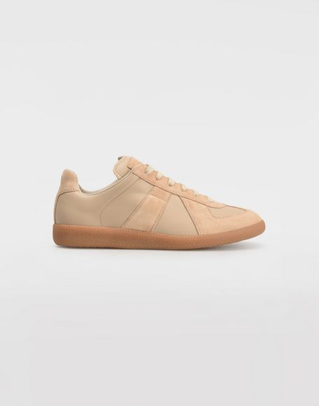 MAISON MARGIELA Calfskin and suede Replica sneakers Sneakers Woman f