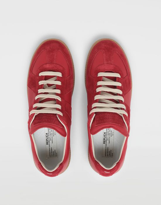MAISON MARGIELA Calfskin and suede Replica sneakers Sneakers [*** pickupInStoreShipping_info ***] d
