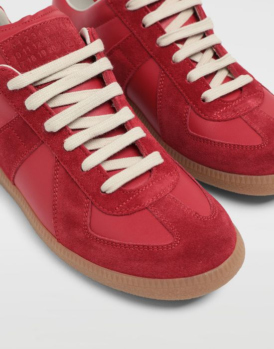 MAISON MARGIELA Calfskin and suede Replica sneakers Sneakers [*** pickupInStoreShipping_info ***] e