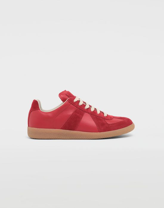 MAISON MARGIELA Calfskin and suede Replica sneakers Sneakers [*** pickupInStoreShipping_info ***] f