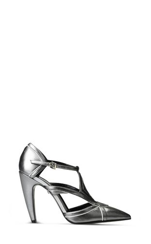 JUST CAVALLI Pump D Metallic sandals with buckles f