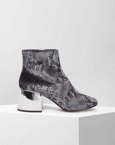 MM6 MAISON MARGIELA Ankle boots D Python print velvet ankle boots with metallic heels f