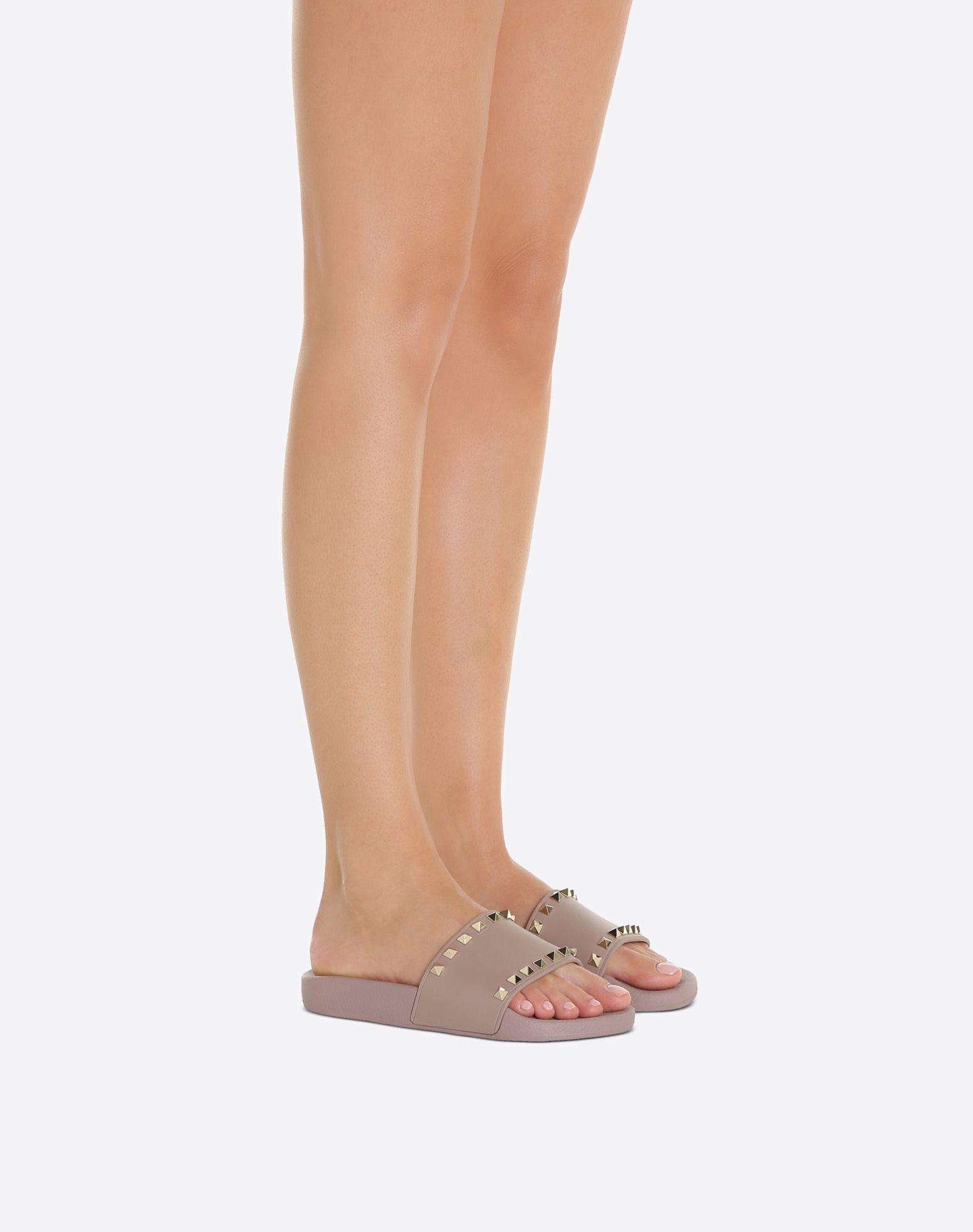 VALENTINO Rockstud PVC Slide Sandal SLIDE SANDAL D a