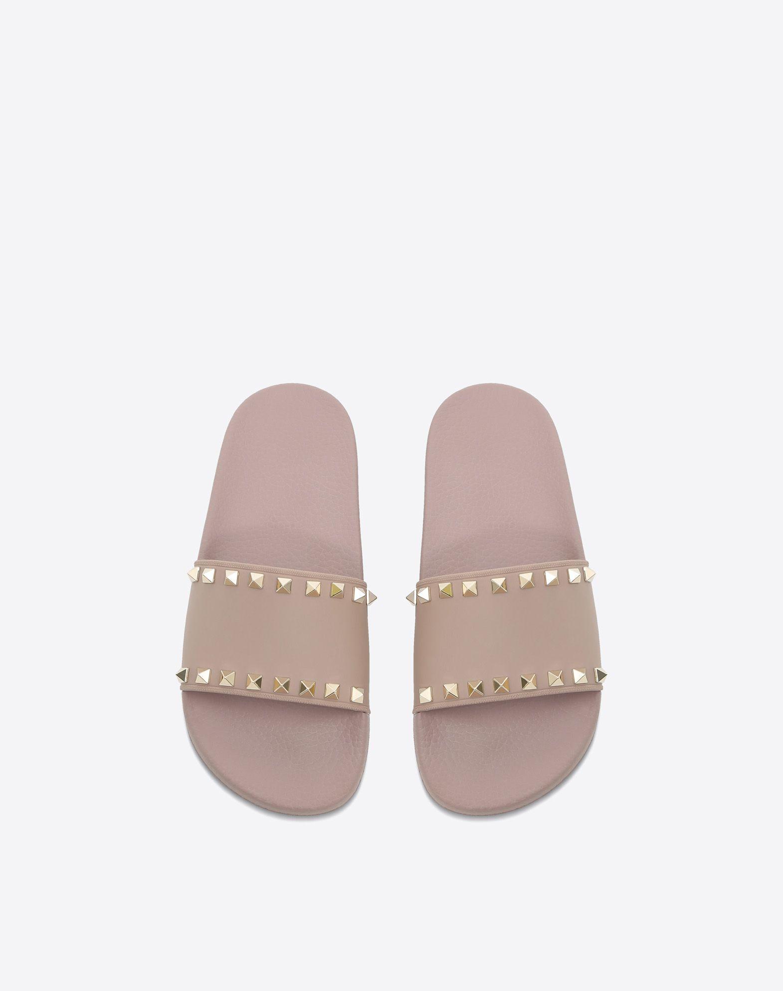 VALENTINO Rockstud PVC Slide Sandal SLIDE SANDAL D e