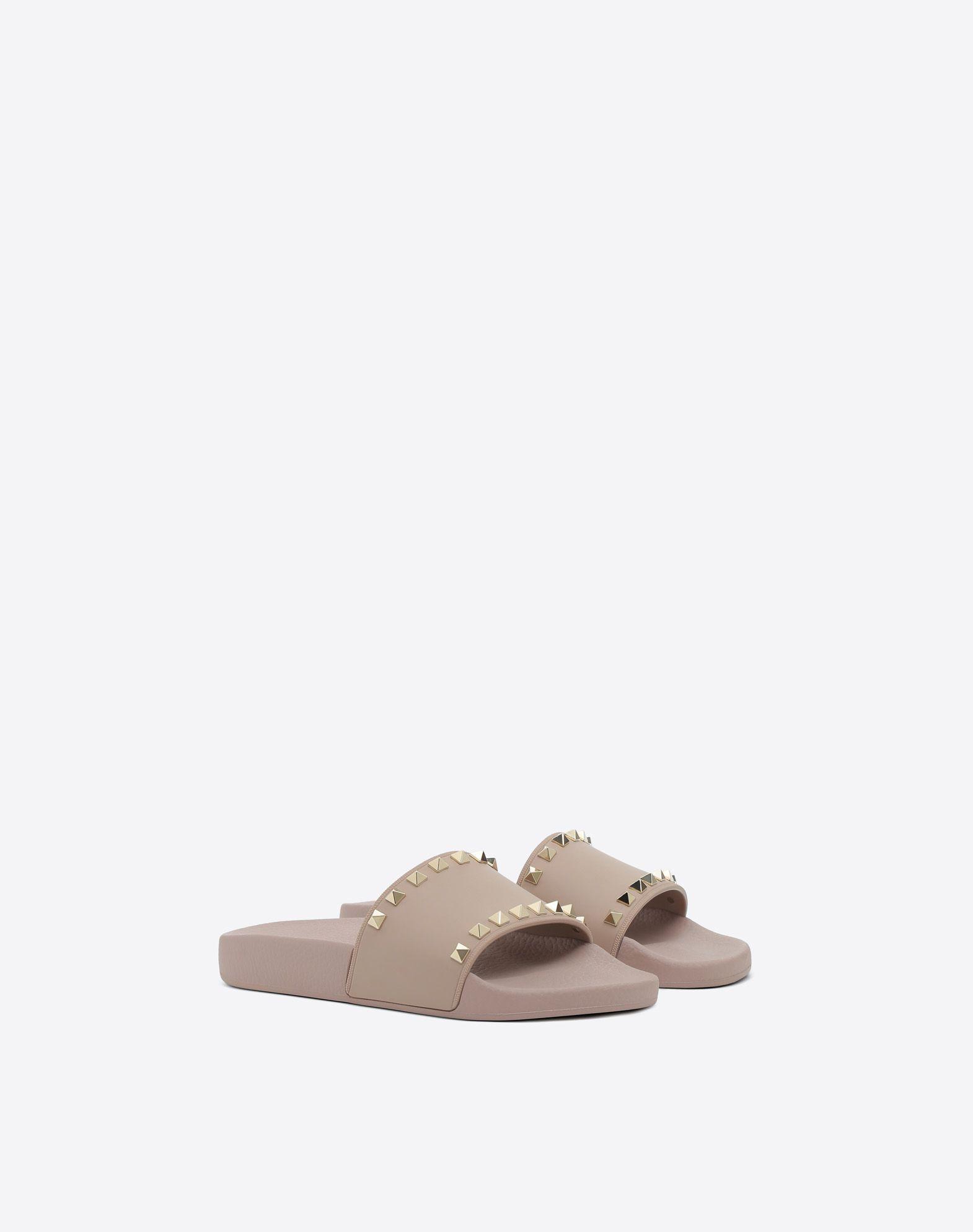 VALENTINO Rockstud PVC Slide Sandal SLIDE SANDAL D r