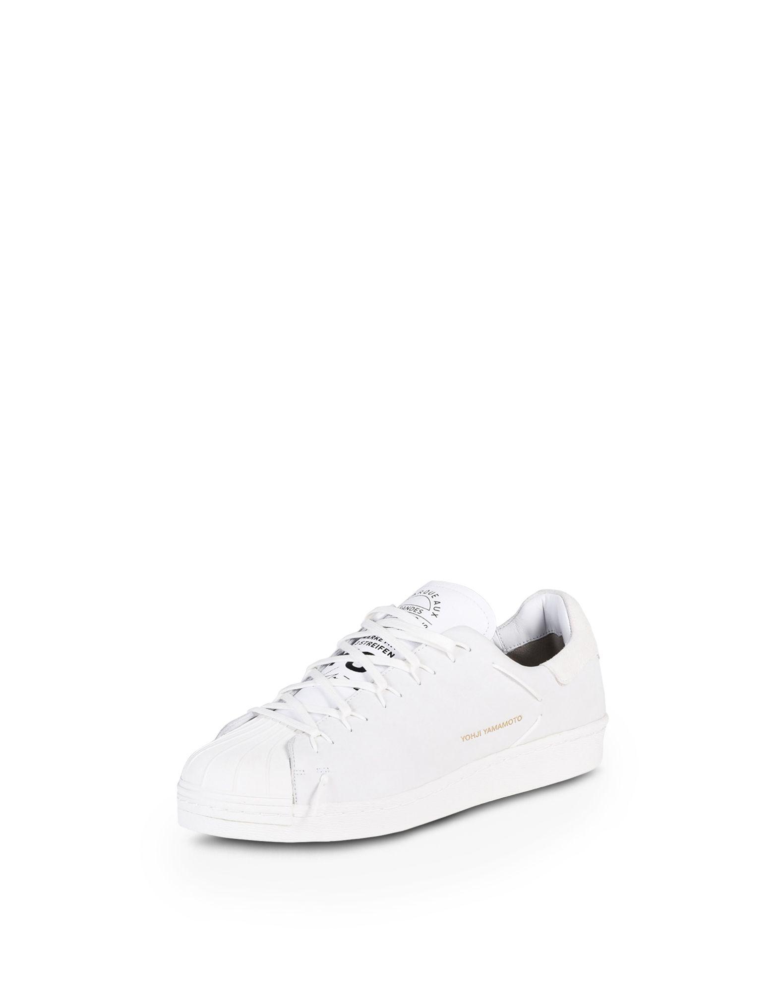 Sneakers SUPER KNOT suede grey leather white Yohji Yamamoto Ci2wjUnnb