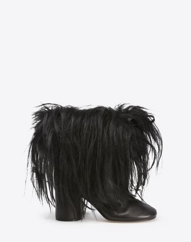 MAISON MARGIELA Round-toe ankle boot with goat hair Ankle boots D f