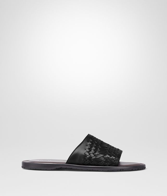 BOTTEGA VENETA NERO INTRECCIATO CALF SAPA SANDAL Sandals Man fp