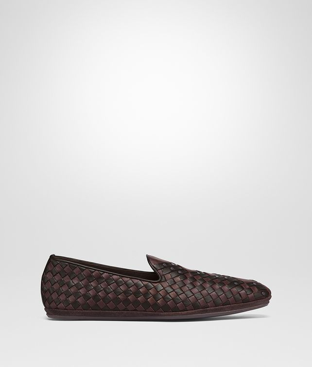 BOTTEGA VENETA DARK BAROLO INTRECCIATO NAPPA FIANDRA SAPA SLIPPER Mocassin or Slipper Man fp