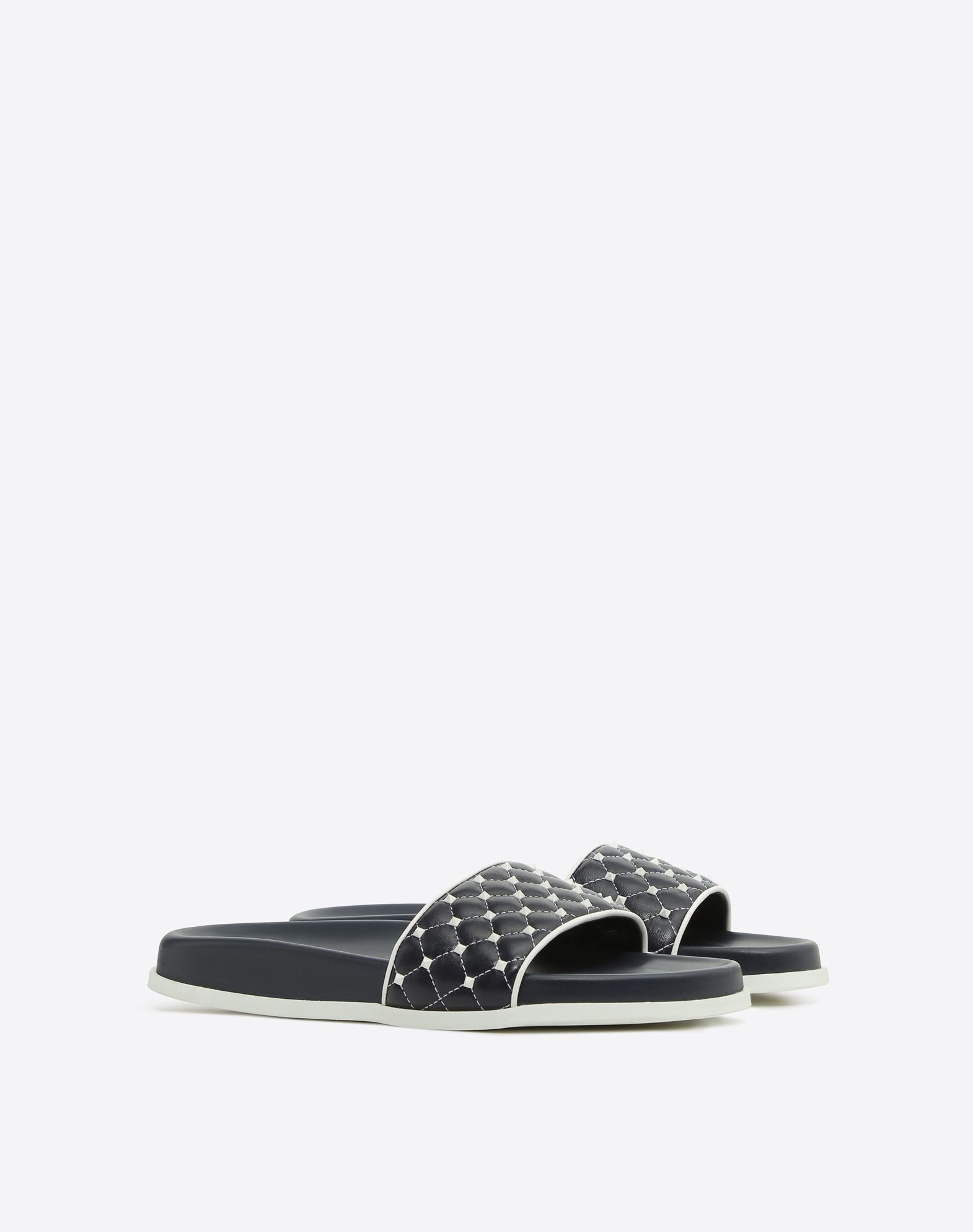 black Rockstud quilted leather slides Valentino Good Price
