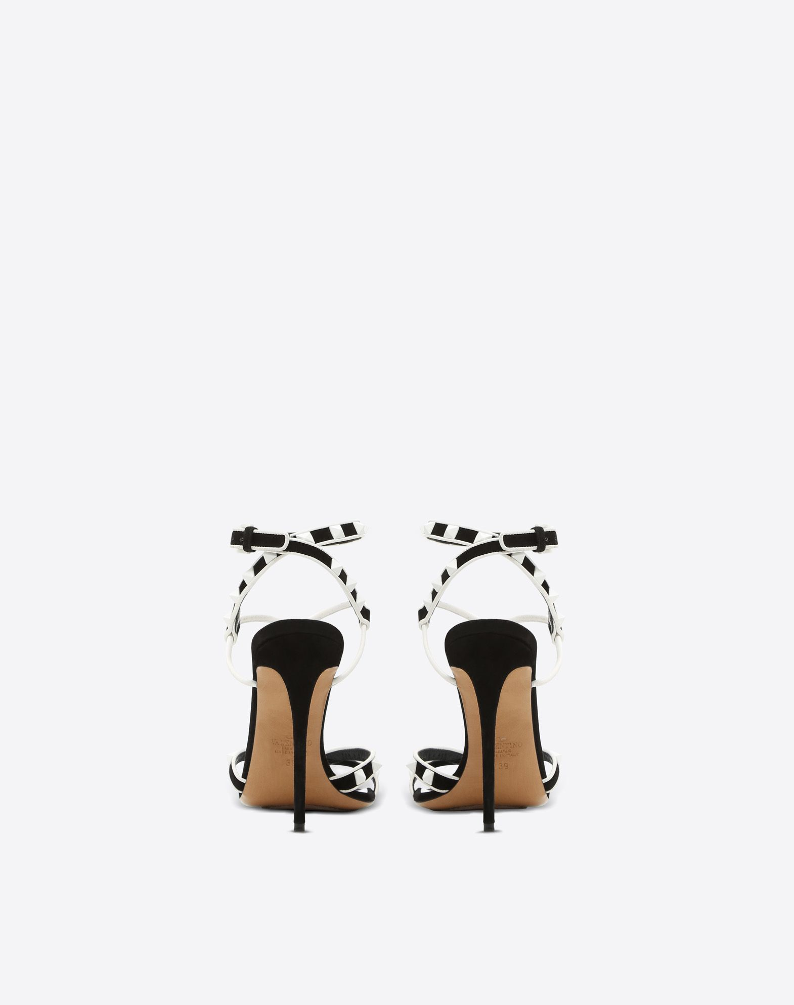 VALENTINO Studs Suede effect Square toeline Leather lining Leather sole Side buckle closure Stiletto heel  11357973ms