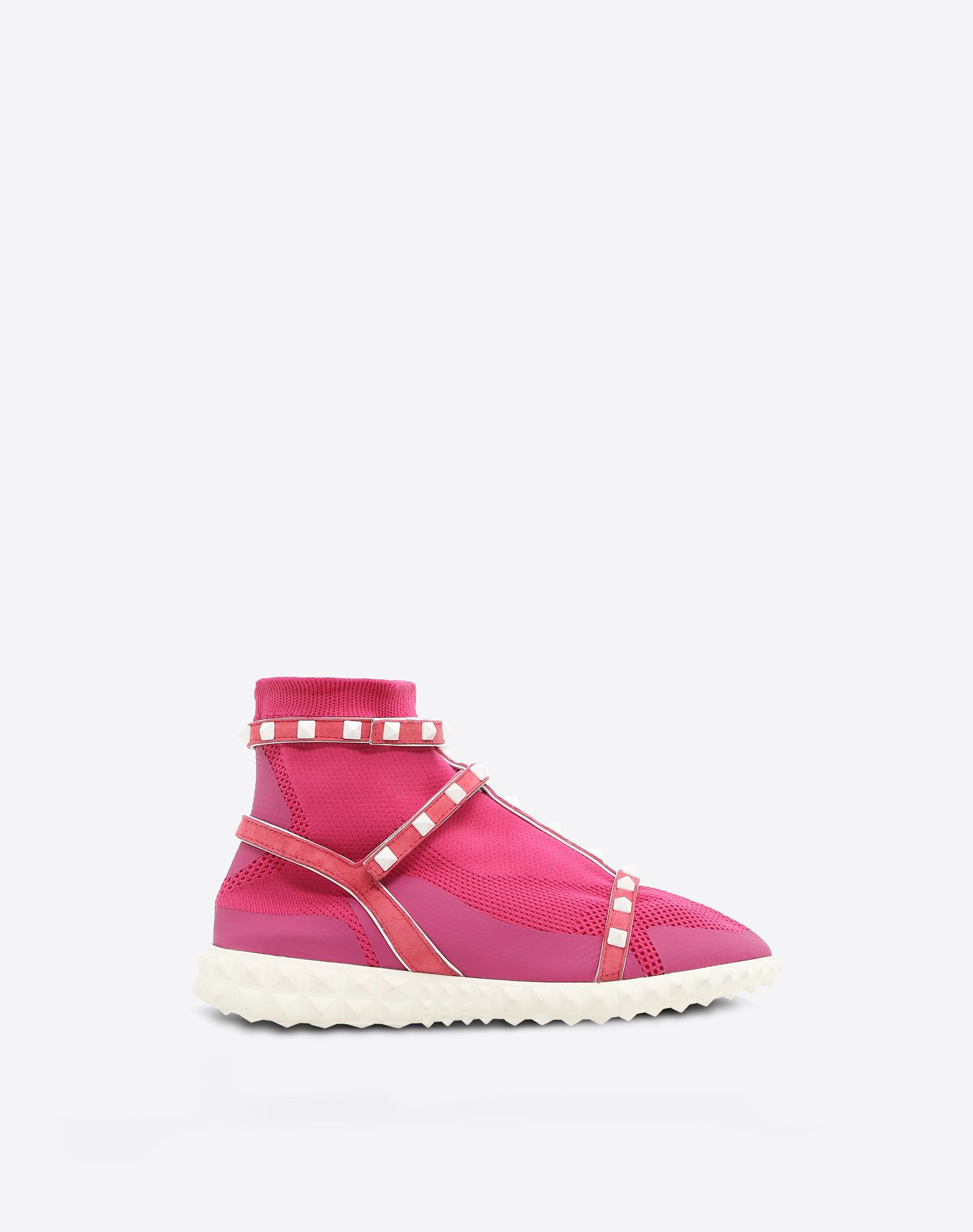 VALENTINO Knitted Studded Suede effect Round toeline Velcro closure Flat Rubber sole Logo  11357975sd