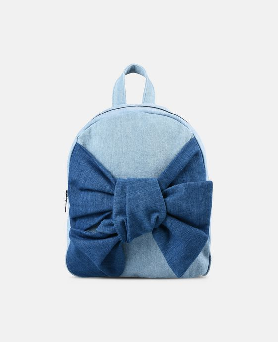 Blair Bow Denim Backpack