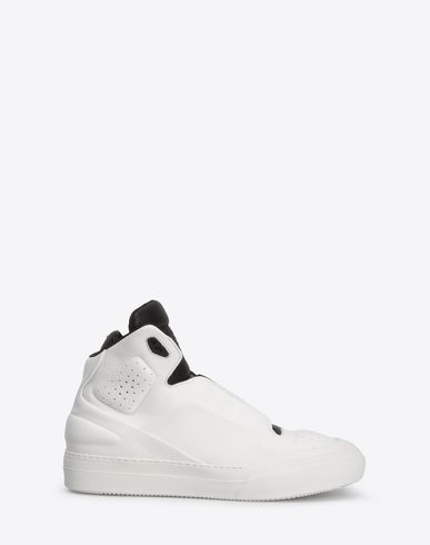 MAISON MARGIELA Sneakers U Two-tone high top leather sneakers f