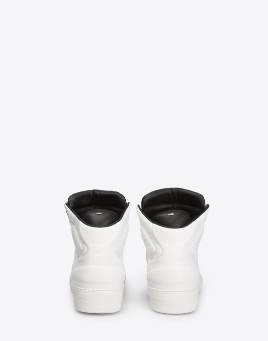 MAISON MARGIELA Two-tone high top leather sneakers Sneakers [*** pickupInStoreShippingNotGuaranteed_info ***] d