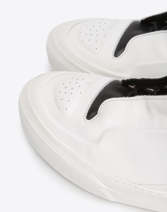 MAISON MARGIELA Two-tone high top leather sneakers Sneakers [*** pickupInStoreShippingNotGuaranteed_info ***] e