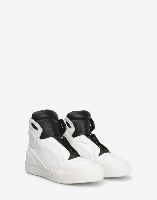 MAISON MARGIELA Two-tone high top leather sneakers Sneakers [*** pickupInStoreShippingNotGuaranteed_info ***] r