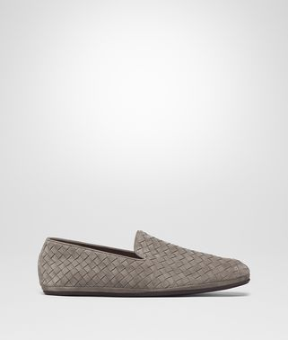SLIPPER FIANDRA IN INTRECCIATO SUEDE STEEL