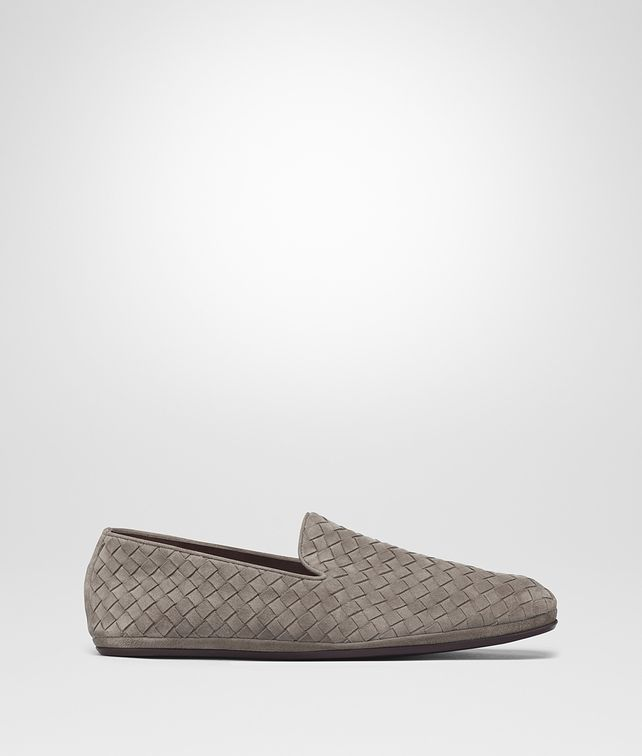 BOTTEGA VENETA STEEL INTRECCIATO SUEDE FIANDRA SLIPPER Mocassin or Slipper [*** pickupInStoreShippingNotGuaranteed_info ***] fp