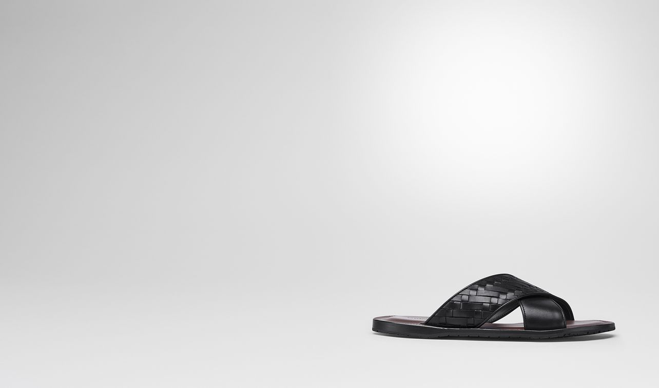 nero intrecciato calf sapa crisscross sandal landing