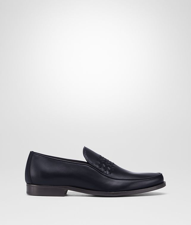 BOTTEGA VENETA DARK NAVY CALF CHET SLIP-ON Mocassin or Slipper Man fp