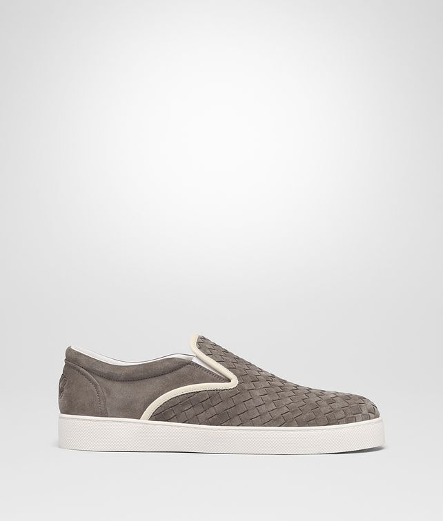 BOTTEGA VENETA STEEL INTRECCIATO SUEDE DODGER SNEAKER Trainers [*** pickupInStoreShippingNotGuaranteed_info ***] fp
