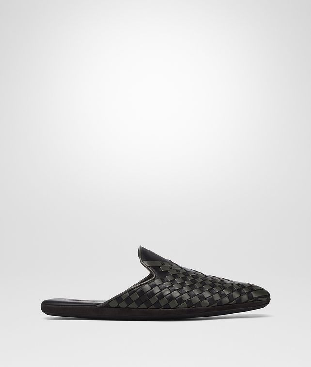 BOTTEGA VENETA NERO INTRECCIATO NAPPA FIANDRA SAPA SLIPPER Mocassin or Slipper Man fp