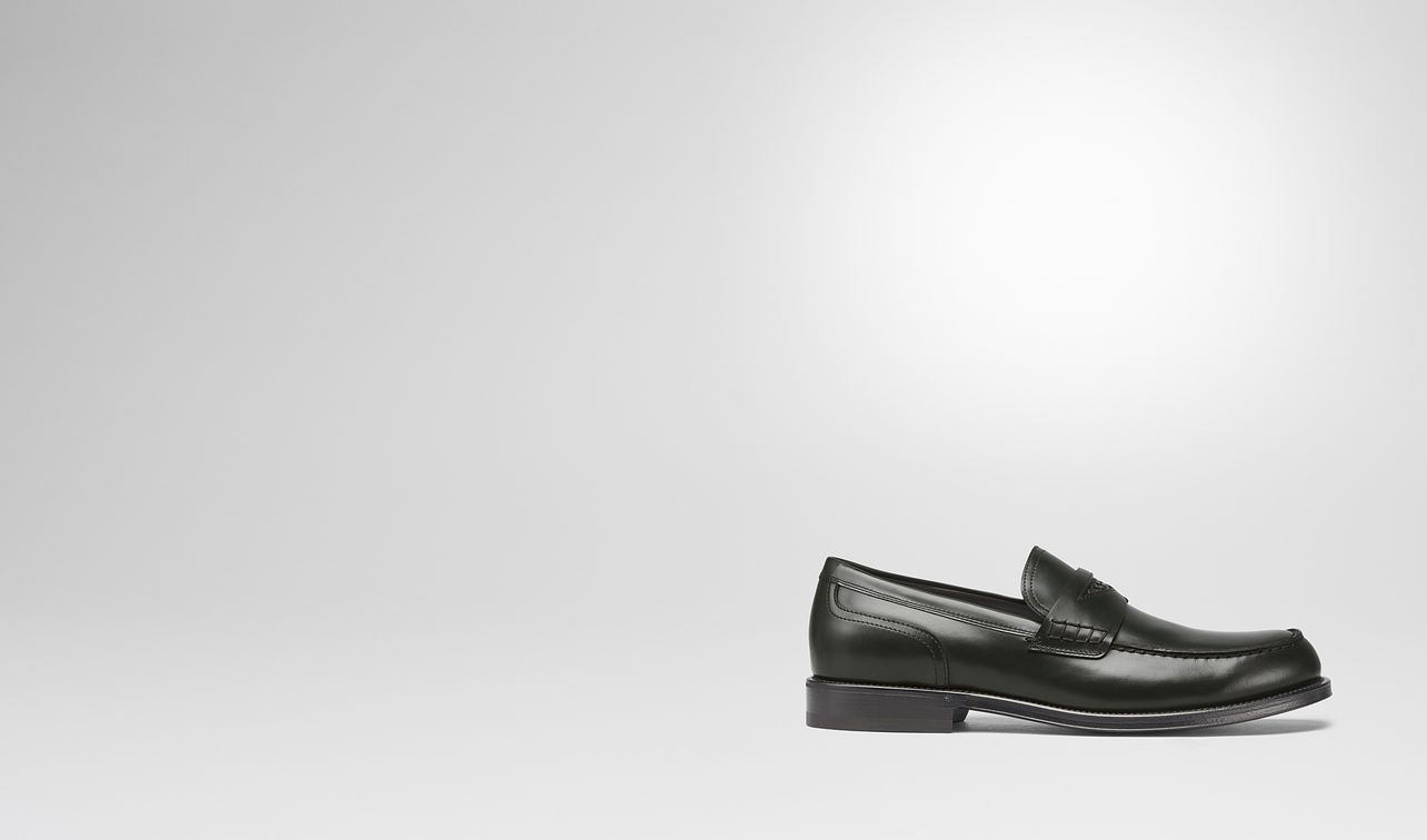 dark moss calf gahan loafer landing