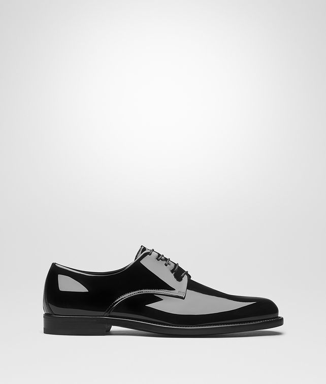 BOTTEGA VENETA NERO PATENT CALF LEONHARD SHOE Lace Up [*** pickupInStoreShippingNotGuaranteed_info ***] fp