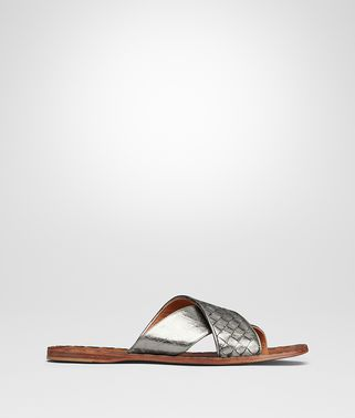 ARGENTO ANTIQUE INTRECCIATO FURROW METAL RAVELLO SANDAL