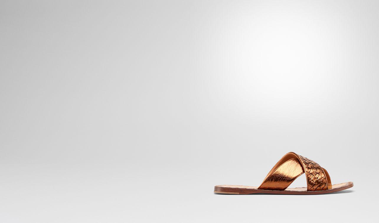 sandales ravello en cuir nappa intrecciato nero landing