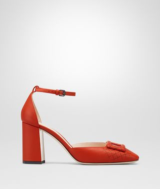 DARK TERRACOTTA NAPPA CHERBOURG PUMP
