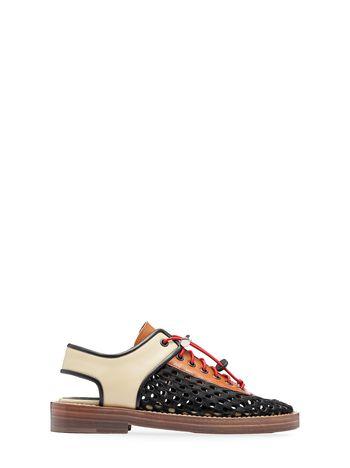 Marni Perforated sandal in calfskin Woman