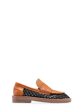 Marni Moccasin in perforated hair calf Woman