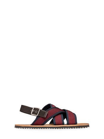 MARNI Sandals U Sandal in red and blue ribbon f
