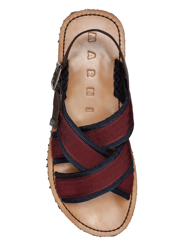 Marni Sandal in red and blue ribbon Man - 4