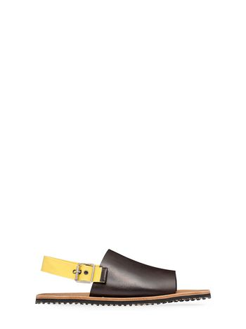 Marni Bi-coloured one-band sandal in leather Man
