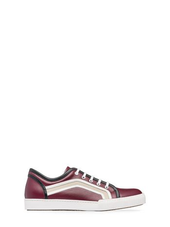 Marni Sneaker in calfskin with side patterns Man