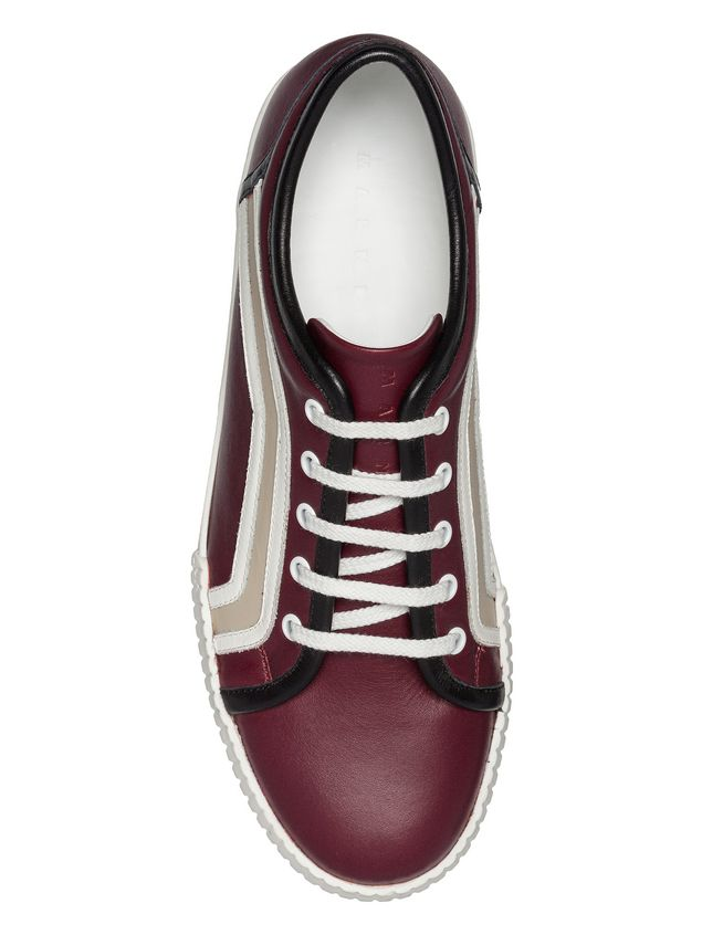 Marni Sneaker in calfskin with side patterns Man - 4