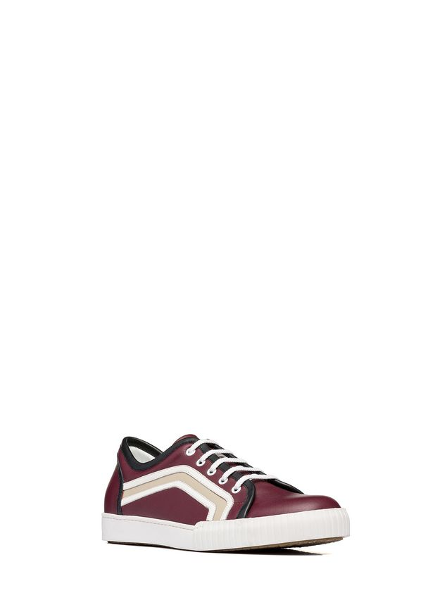Marni Sneaker in calfskin with side patterns Man - 2