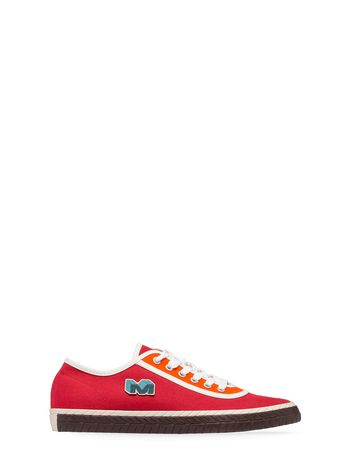 Marni Low-top sneaker in red canvas Man