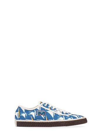 Marni Low-top sneaker in light blue canvas Man