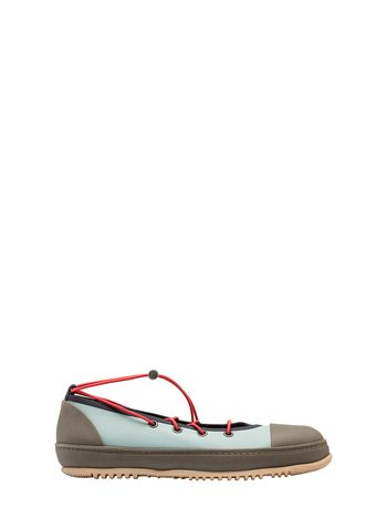 Marni Sneaker in fabric pale blue Woman