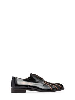 Marni Lace-up in black and red calfskin Man