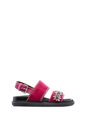 Marni Velvet fussbett with pink crystals Woman