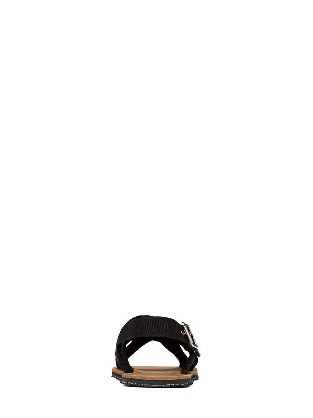 marni sandal in black and blue ribbon man