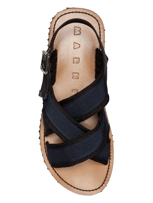 marni sandals man sandal in black and blue ribbon d