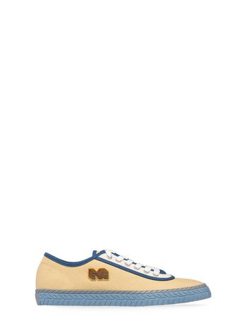 Marni Low-top sneaker in yellow canvas Man