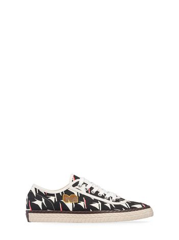 Marni Low-top sneaker in black canvas Man