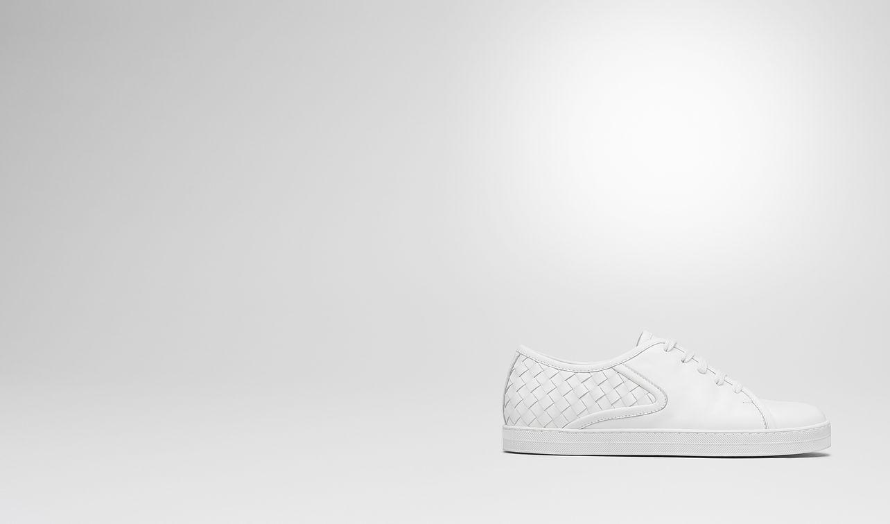 bianco intrecciato nappa carmel sneaker landing